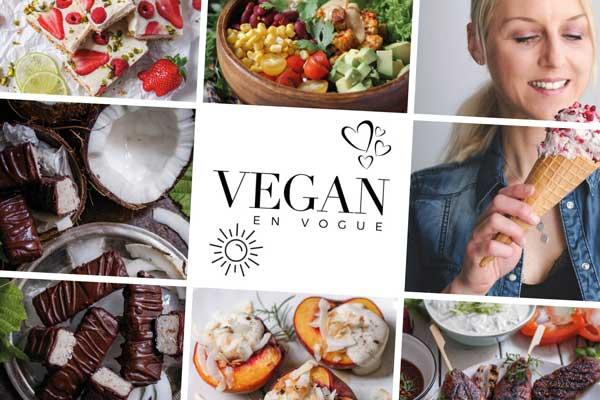 Titelseite des Magazins Vegan en Vogue mit köstlichen Rezeptbildern
